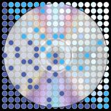 Music Background. Compact Disc on Blue Dotted Background / Vector royalty free illustration