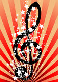 Music background. Vector Music background. Clip-art Stock Illustration