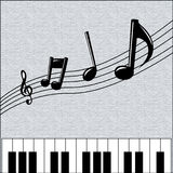 Music Background. Black and grey background decoration with piano and speaker Royalty Free Stock Image