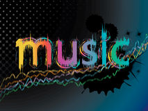 Music background. Illustration of colourful music background Stock Images