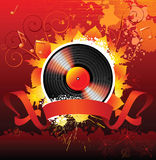 Music background. Autumn music background with place for text stock illustration