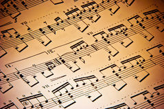 Music background. Of classical notes Royalty Free Stock Photo