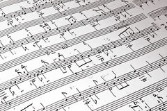 Music background. Of classical notes Stock Image