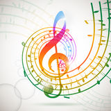 Music background. Abstract musical background with music notes stock illustration