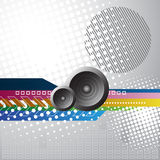 Music background. With two speakers Royalty Free Stock Photos