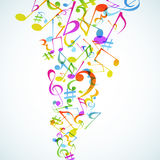 Music background. A bright Music background with notes. Vector Royalty Free Stock Images