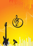 Music background. With music wave Royalty Free Stock Photography