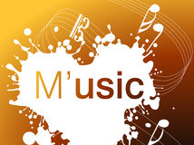 Music Background. Harmoy between music and color Stock Photo