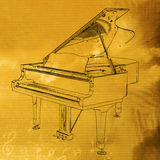 Music background. Piano music background design in antique mood Royalty Free Stock Photo