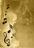 Music background. Music note flying up to the sky Stock Photos