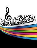 Music background. Black music on the black background Stock Photos