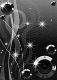 Music background. A computer generaed image of a musical background with speakers royalty free illustration