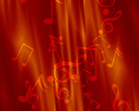 Music background. Red background with some music notes on it Stock Photo