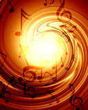 Music background. Red background with some music notes on it Royalty Free Stock Image