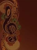 Music background. Music notes on retro style background Stock Photo