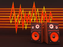 Music background. Two columns on a line background (3d Stock Images