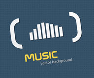 Music background. Abstract music background with simple equalizer. EPS10 Stock Image