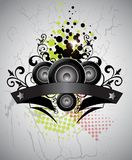 Music background banner Royalty Free Stock Photos