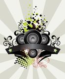 Music background banner Stock Photo