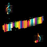 Music background black for your design Royalty Free Stock Photo