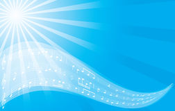 Music background - vector blue flyer Royalty Free Stock Image