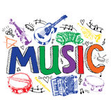 Music background color sketch Stock Photography