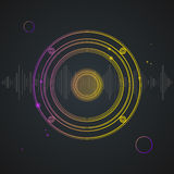 Music Background Colorful Outline Loudspeaker Stock Images