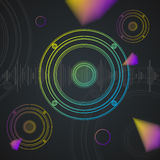 Music Background Colorful Outline Loudspeaker Stock Photo