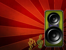 Music background copyspace Royalty Free Stock Photography