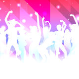 Music Background with dancing girls Royalty Free Stock Photo