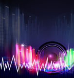 Music background design Stock Images