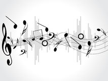 Music background with different notes on the white Royalty Free Stock Image