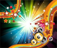 Music Background for Disco Flyers Stock Photos