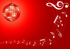 Music background with discoball Stock Photos