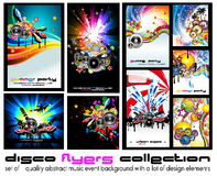Music Background for Discoteque Flyer - Set 5 Royalty Free Stock Image