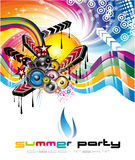 Music Background for Discoteque Flyers Stock Photography
