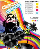 Music Background with DJ Silhouette Stock Images