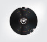 Music Background with Glow vinyl plate Royalty Free Stock Photo