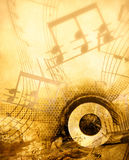 Music background. Grunge music background with notes Stock Images