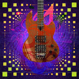 Music background with guitar Royalty Free Stock Image