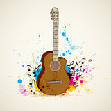Music background with guitar. Abstract vector music background with guitar vector illustration