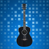 Music background with guitar Royalty Free Stock Photography