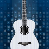 Music background with guitar Stock Photos