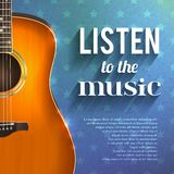 Music Background With Guitar Royalty Free Stock Photo