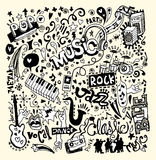 Music Background ,Hand drawing Doodle Stock Photography