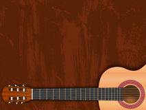 Music background, illustration with guitar Royalty Free Stock Photography