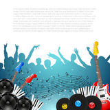 Music Background with Instruments - Vector. With place for your text Stock Photos