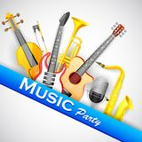 Music Background with Instrunment Royalty Free Stock Photo