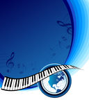 Music background with map of the world Stock Photography