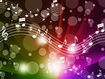 Music Background Meaning Singing Instruments And Notes Royalty Free Stock Photos